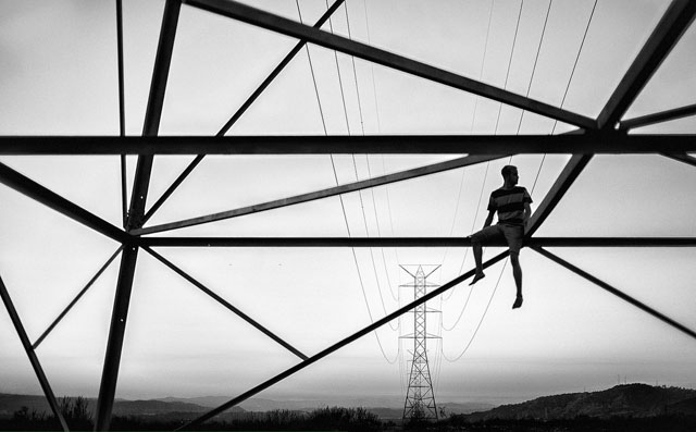 fotos creativas en blanco y negro
