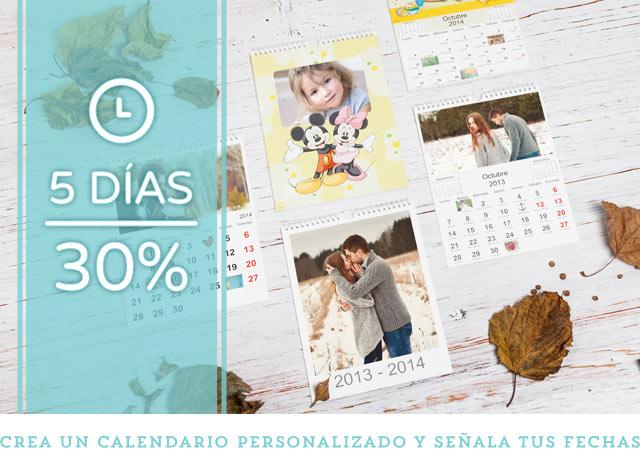 Consigue tu calendario con el 30% de descuento!