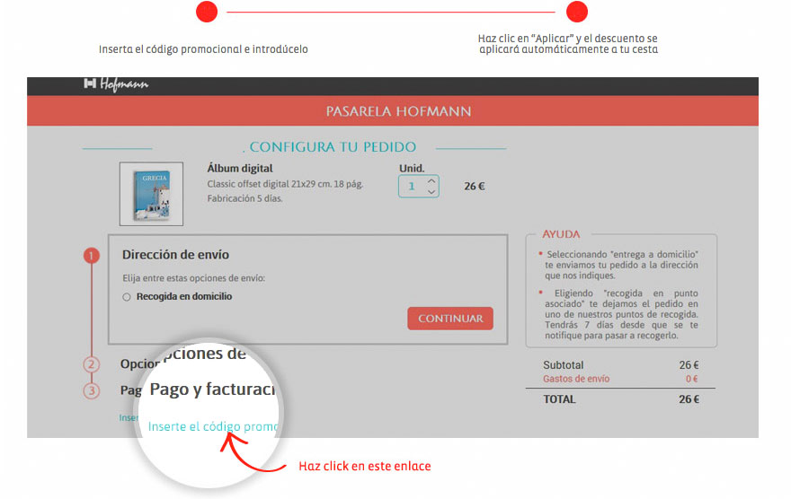 Códigos promocionales de Hofmann, como usarlos