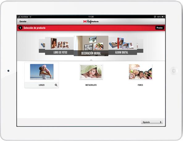 Programa Hofmann en un iPad