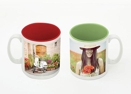 Taza con color interior totalmente personalizada