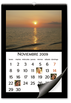 Calendario de pared formato A3 (30x45 cm)