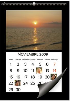 Calendario de pared formato A3 (30x45 cm)