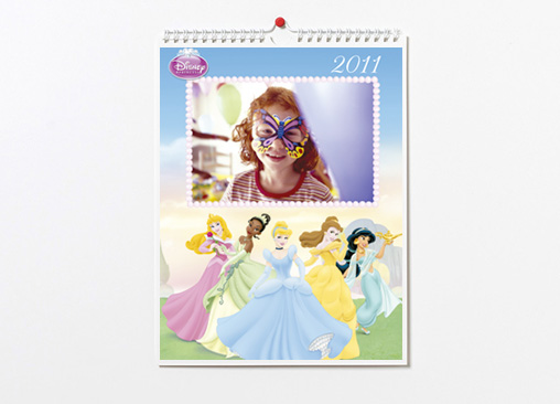 Calendario de pared Disney Princesas (22x30) A4