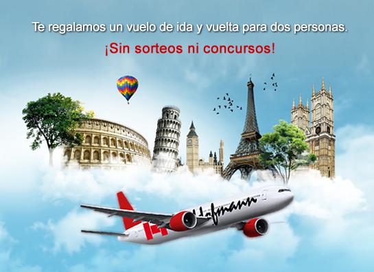 Promoción Hofmann, vuelos gratis para 2 personas.